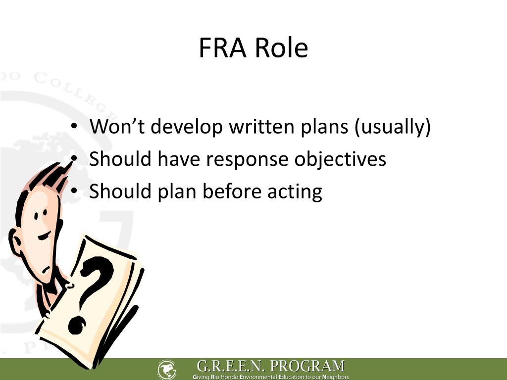 FRA Role