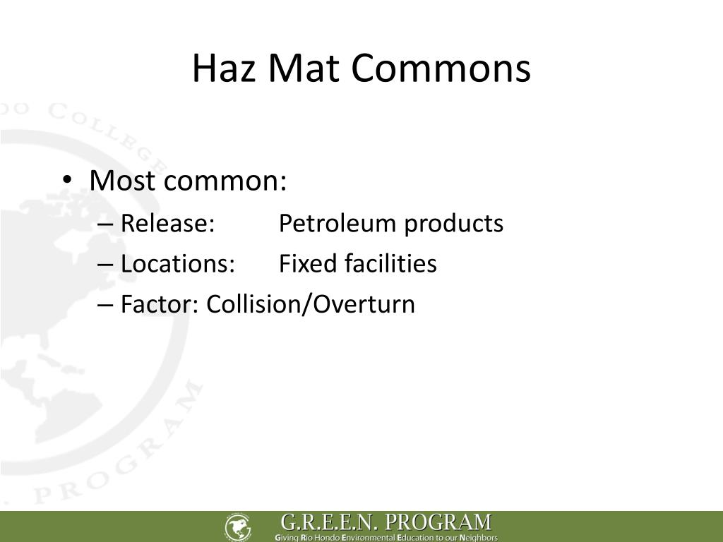 Haz Mat Commons