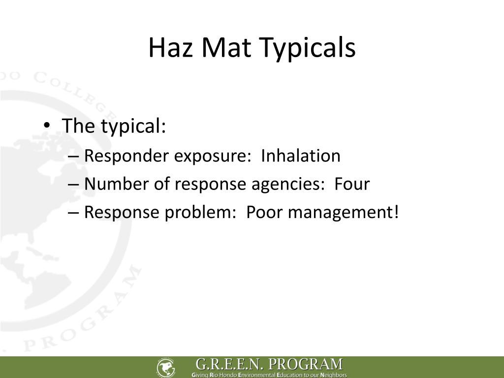 Haz Mat Typicals