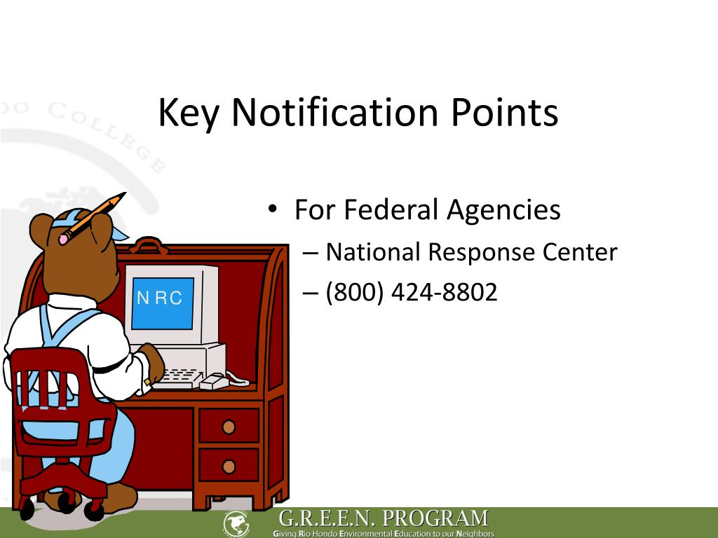 Key Notification Points