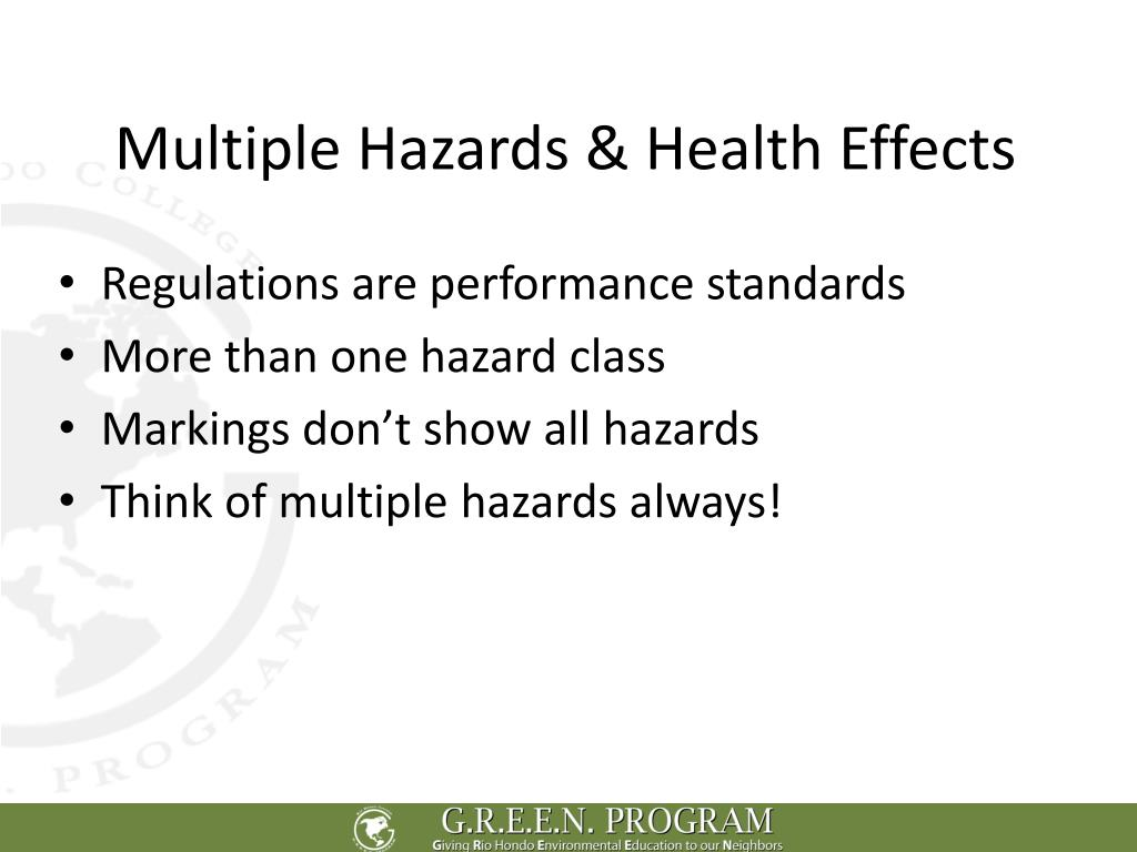 Multiple Hazards & Health Effects