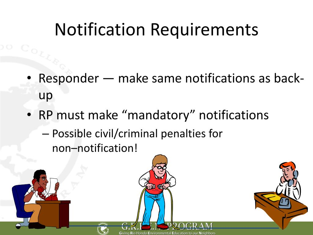 Notification Requirements