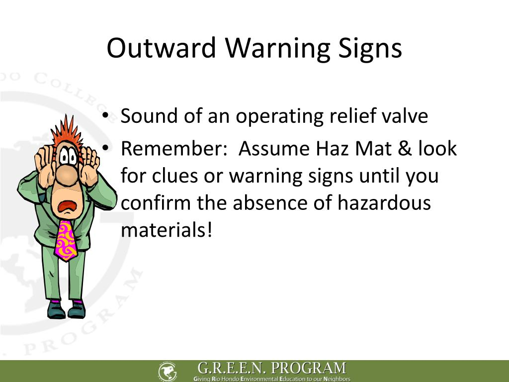 Outward Warning Signs