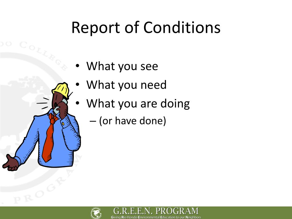 Report of Conditions