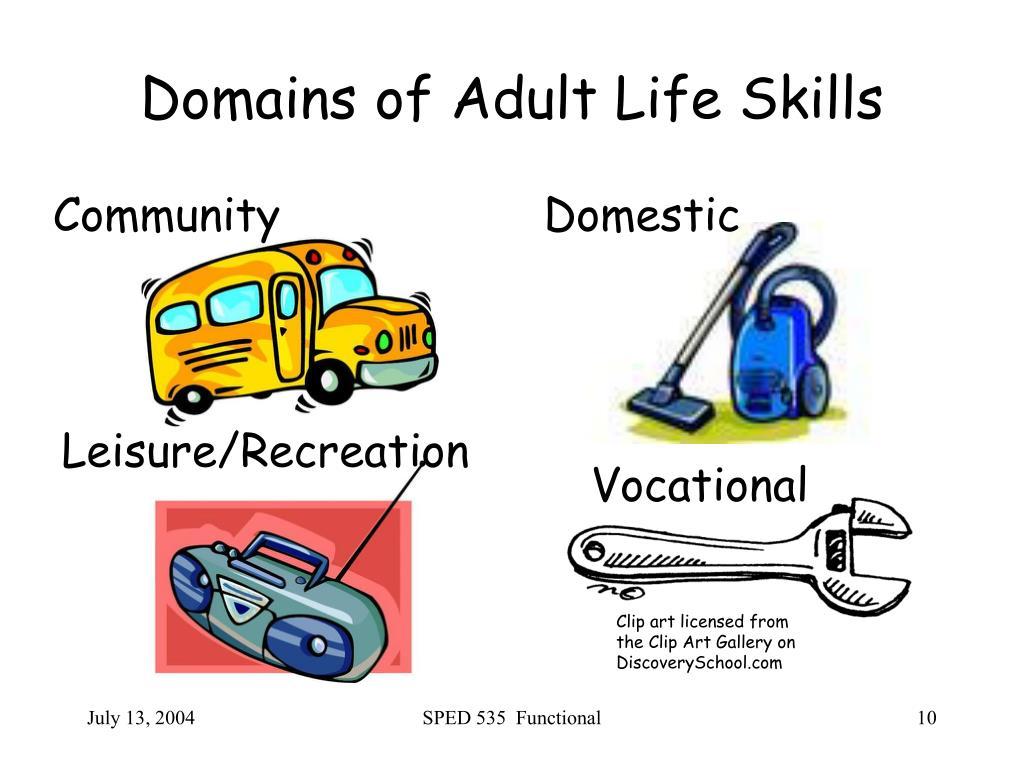 Domains of Adult Life Skills