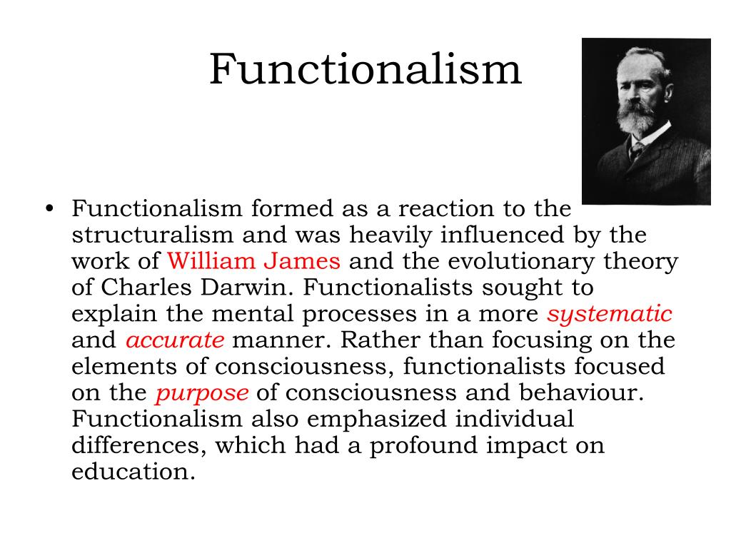 how would you distinguish between structuralism and functionalism in early formal psychology What is the difference between structuralism and functionalism well, to fully answer that would take at least a semester's course in introductory sociology or.