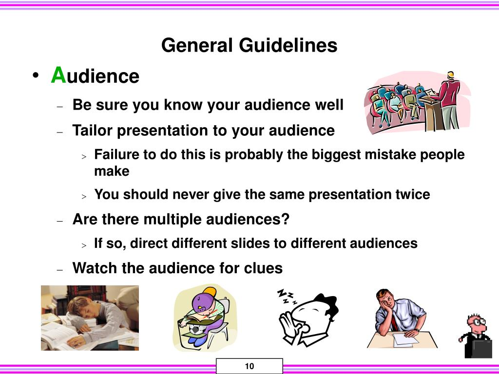 General Guidelines