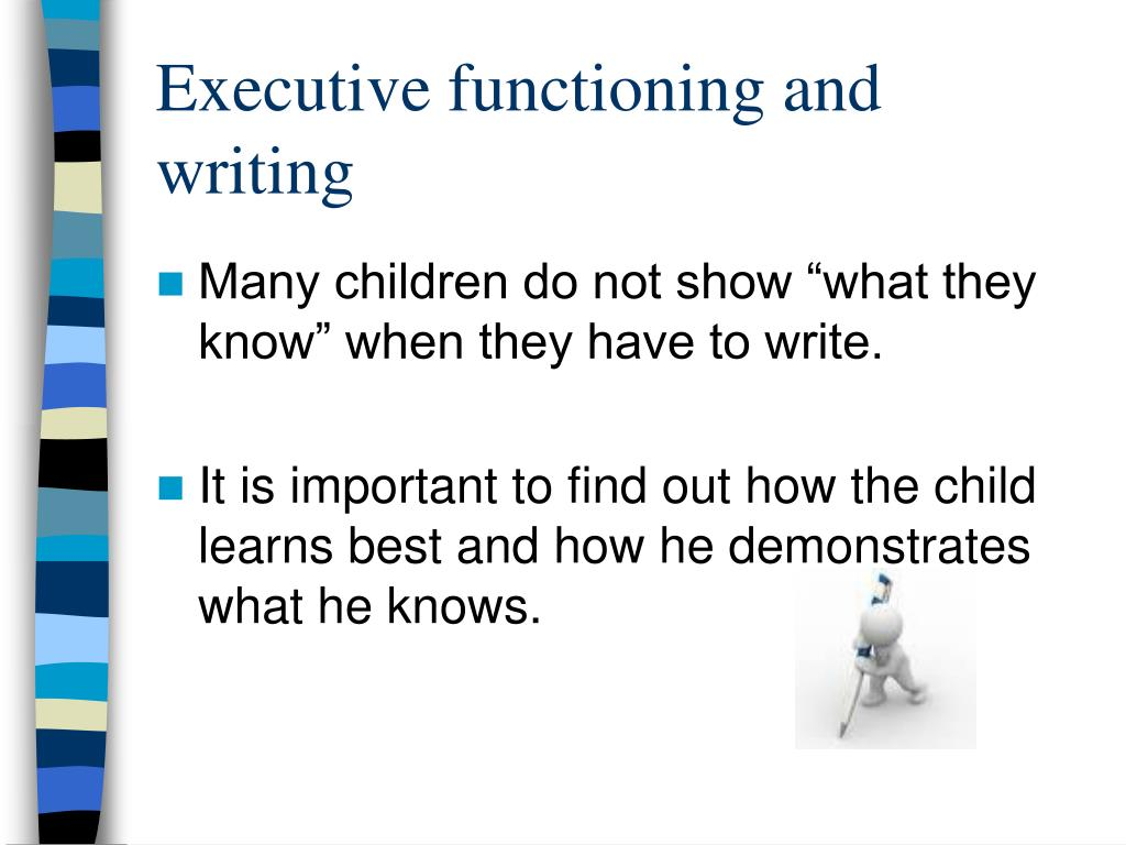 Executive functioning and writing