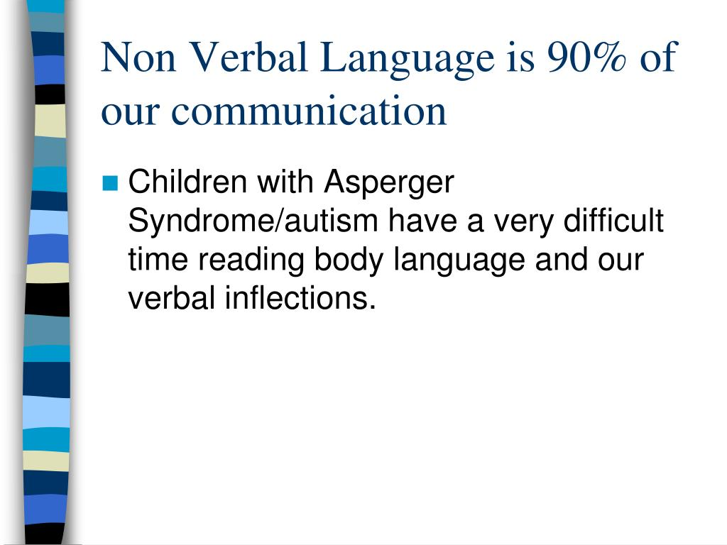 Non Verbal Language is 90% of our communication