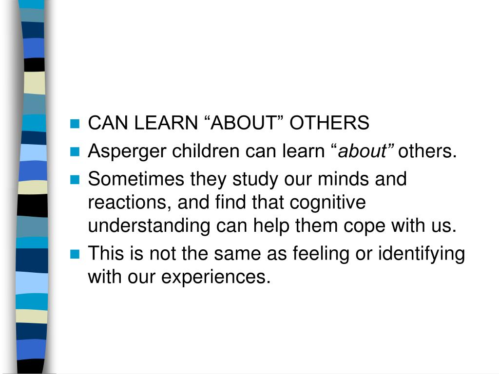 "CAN LEARN ""ABOUT"" OTHERS"