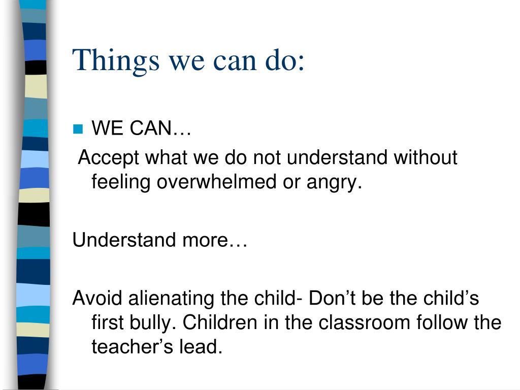 Things we can do: