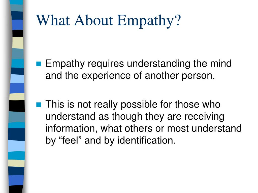 What About Empathy?