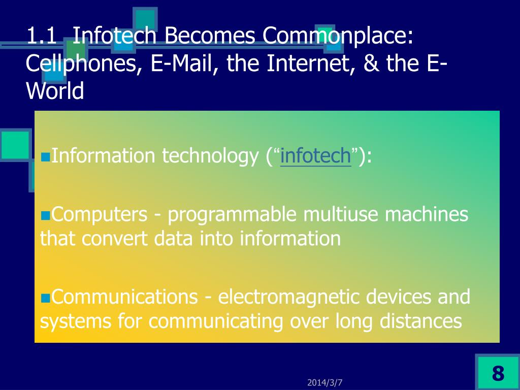 1.1  Infotech Becomes Commonplace: