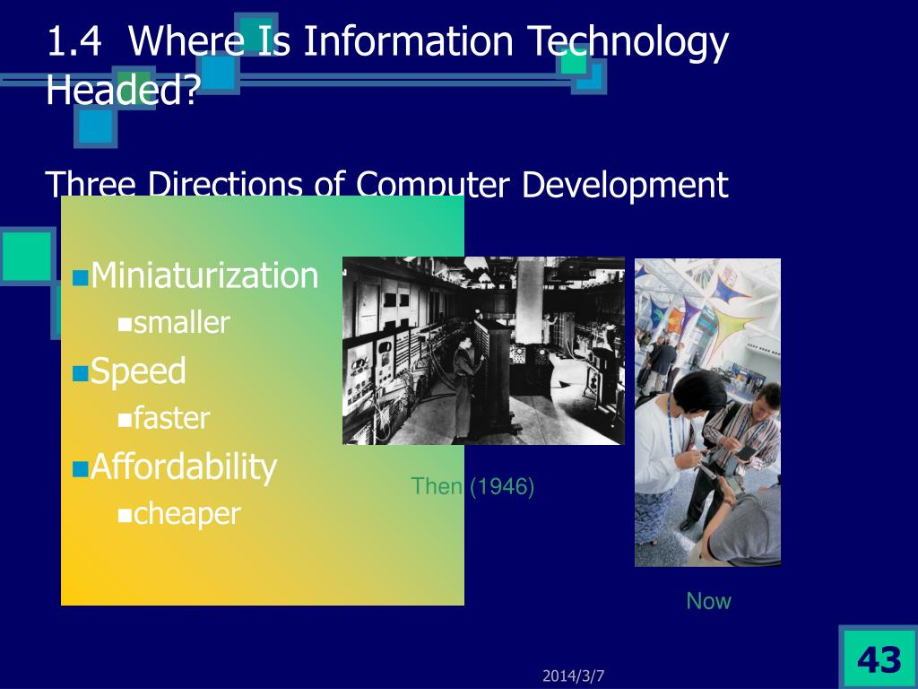 1.4  Where Is Information Technology Headed?