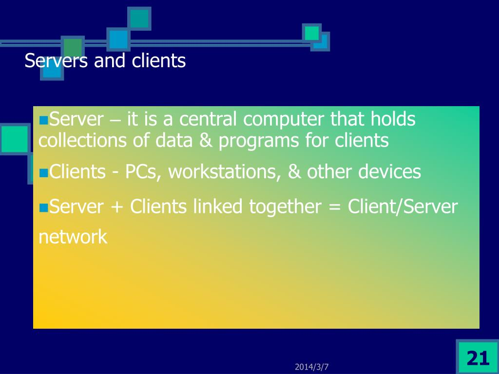 Servers and clients