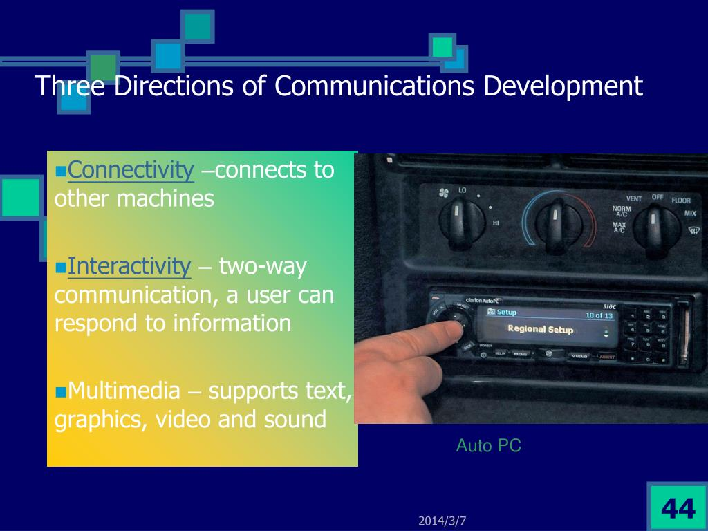 Three Directions of Communications Development