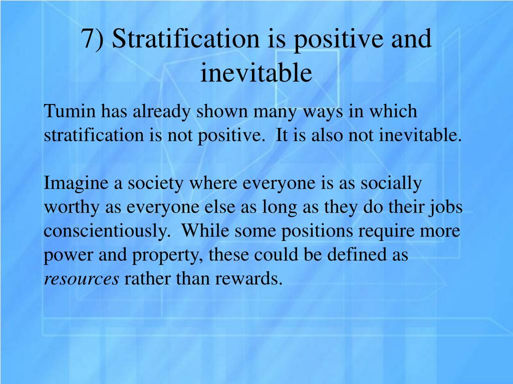 is stratification inevitable A summary of theories of stratification in 's social stratification and inequality learn exactly what happened in this chapter, scene, or section of social stratification and inequality and what it means perfect for acing essays, tests, and quizzes, as well as for writing lesson plans.