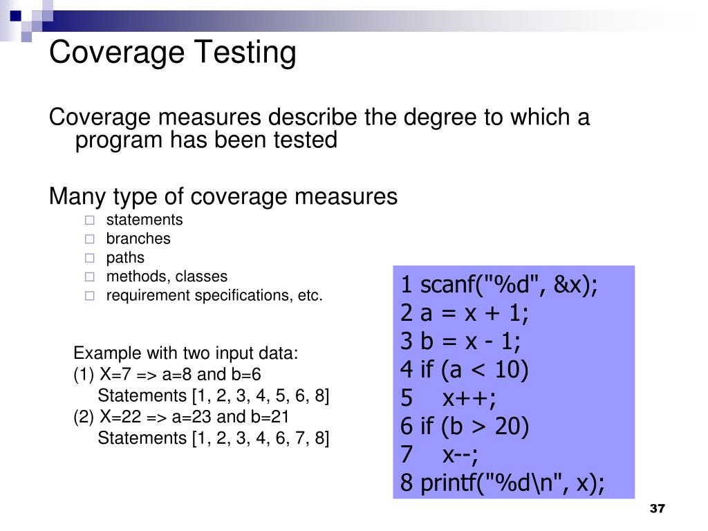 Coverage Testing