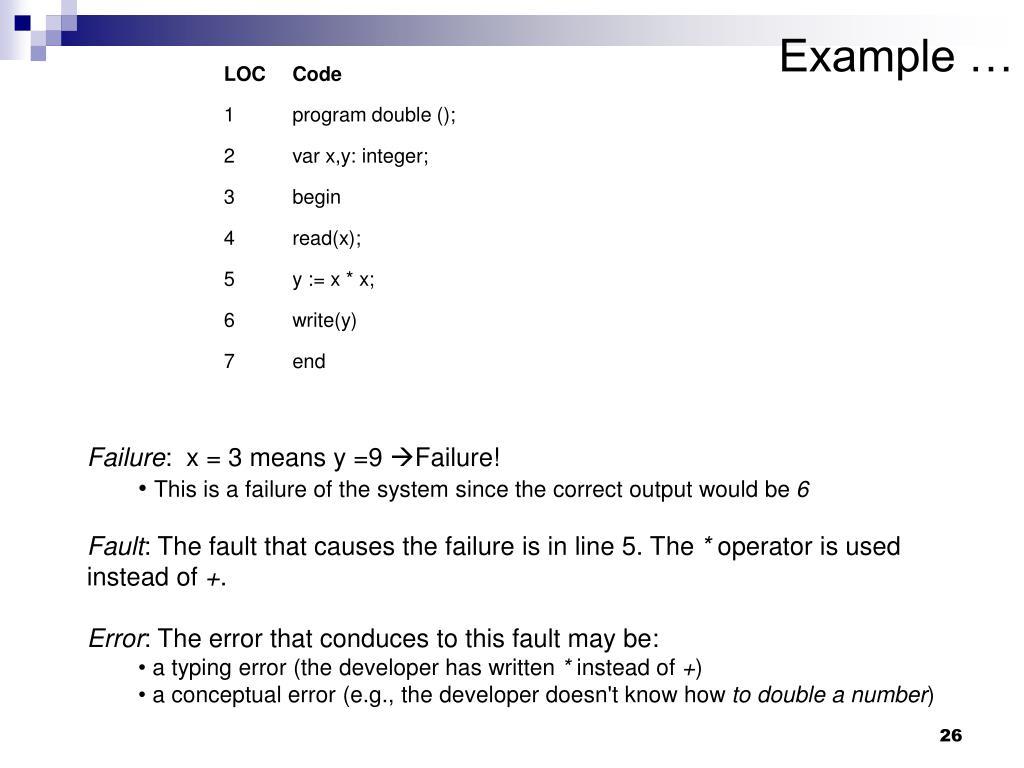 Example …