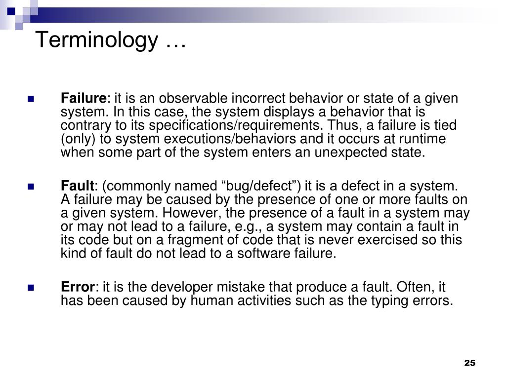 Terminology …