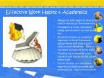 effective work habits academics