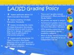 lausd grading policy