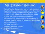 ms elizabeth genuino