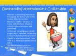 outstanding attendance citizenship