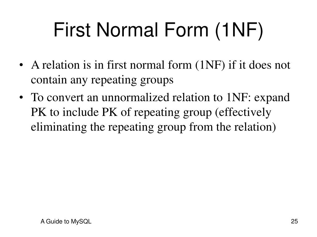 2nf authentication better than 1nf Normalization of database tables 1 database (continued) – 2nf is better than 1nf 3nf is better than 2nf – for most business database design purposes.
