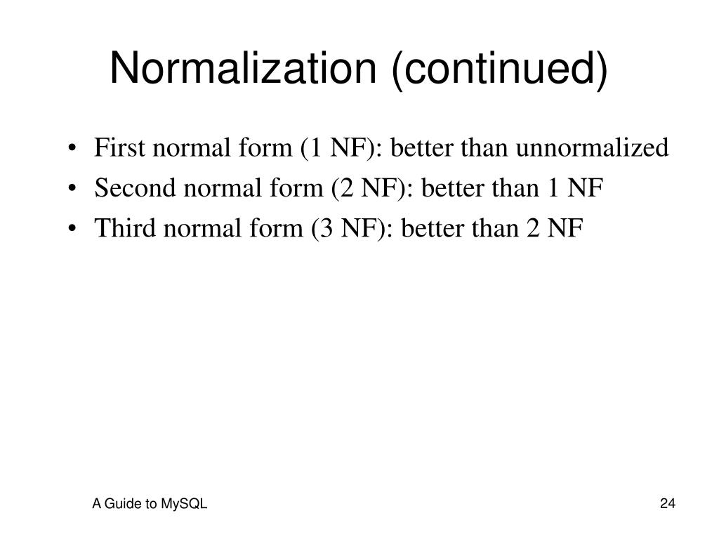2nf authentication better than 1nf They create a table that looks like this: since a teacher can teach more than one  subjects, the table can have multiple rows for a same teacher.