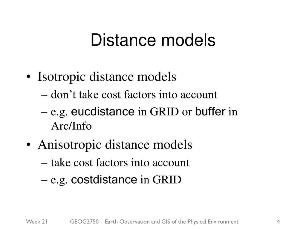 Distance models