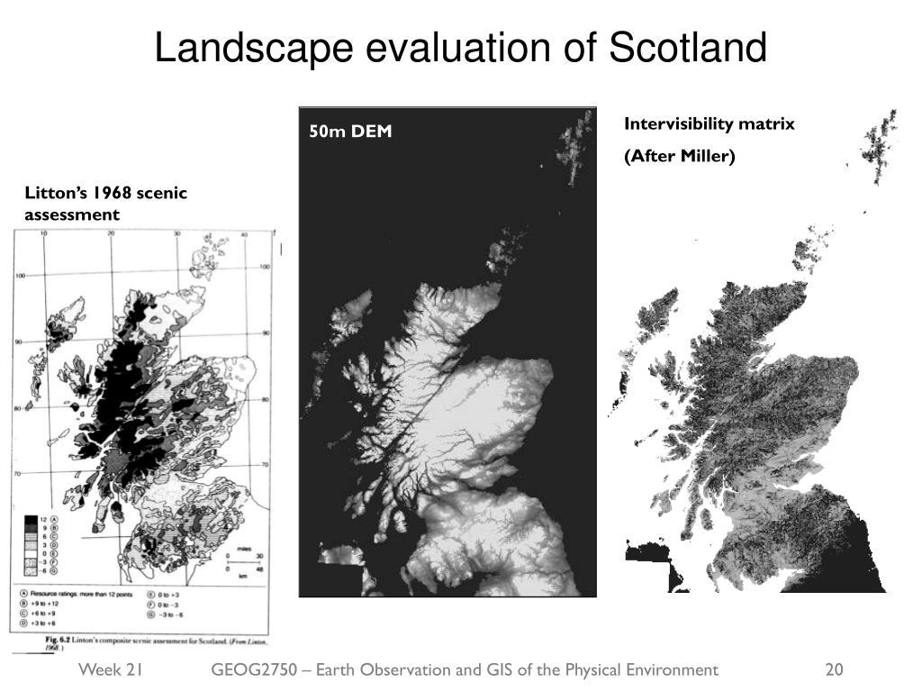 Landscape evaluation of Scotland