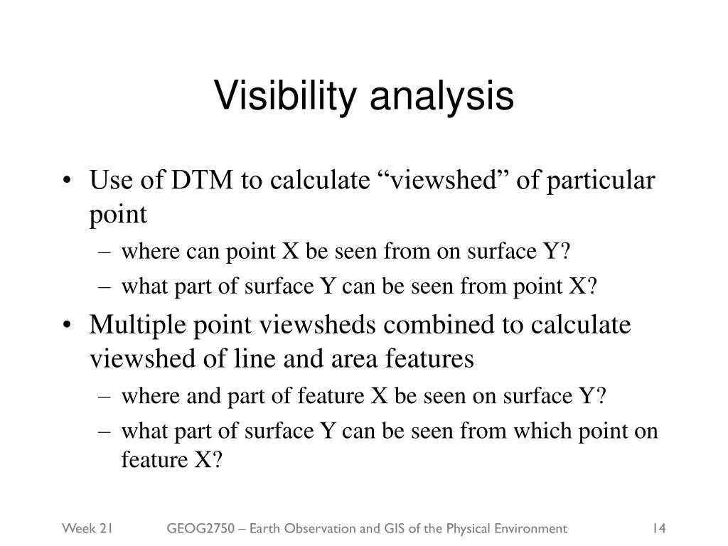 Visibility analysis