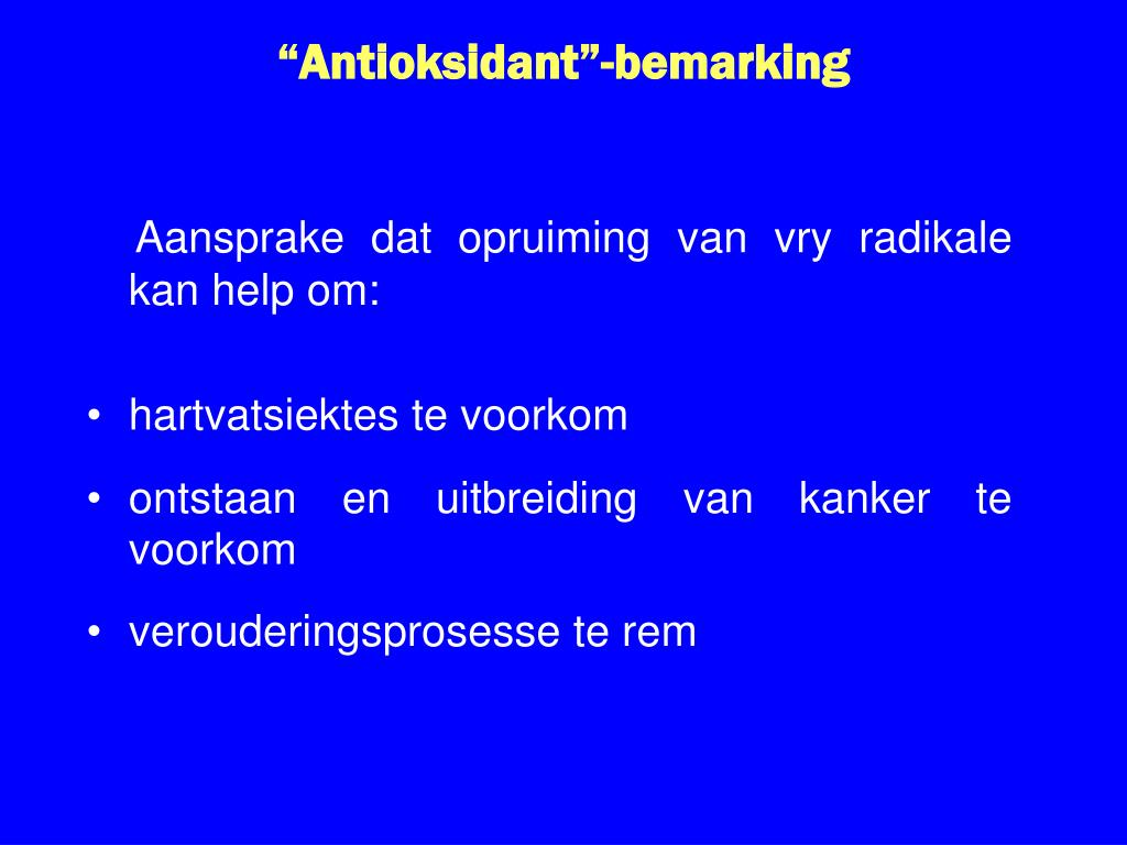 """Antioksidant""-bemarking"