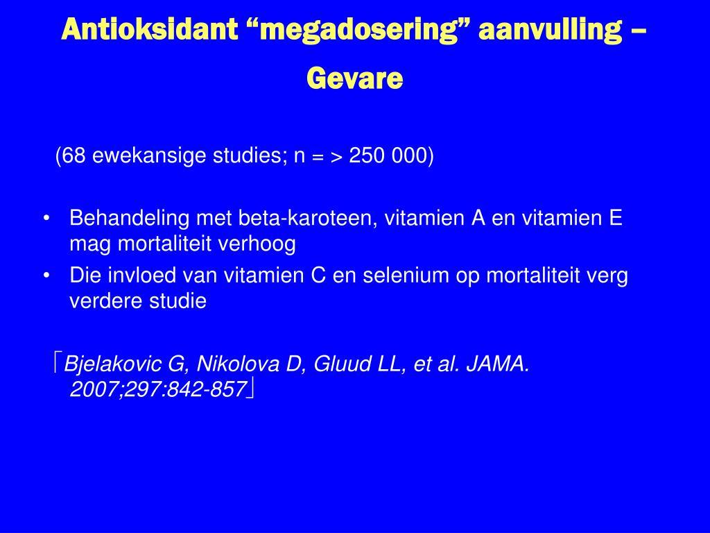 """Antioksidant """"megadosering"""" aanvulling – Gevare"""