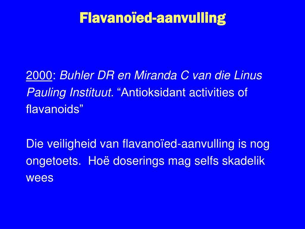 Flavanoïed-aanvulling