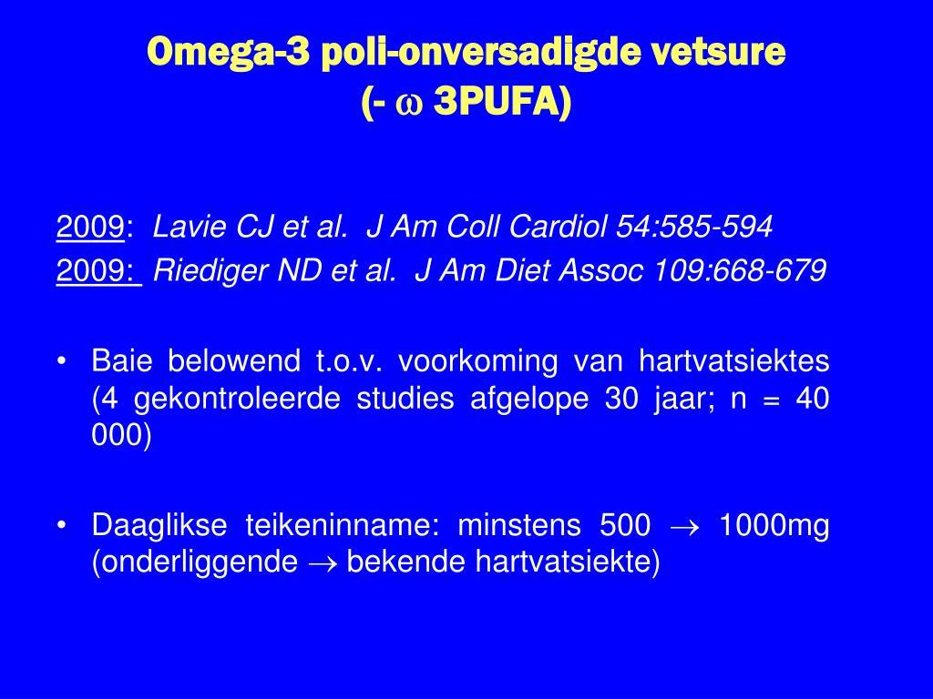 Omega-3 poli-onversadigde vetsure