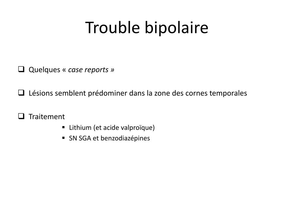 Trouble bipolaire