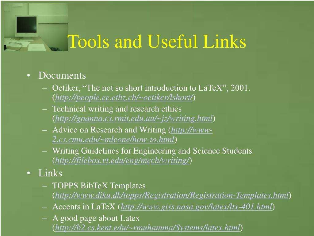 Tools and Useful Links