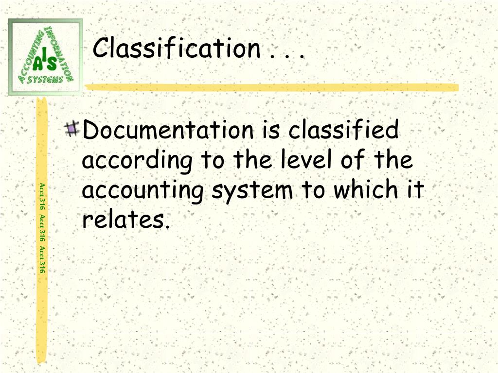 Classification . . .