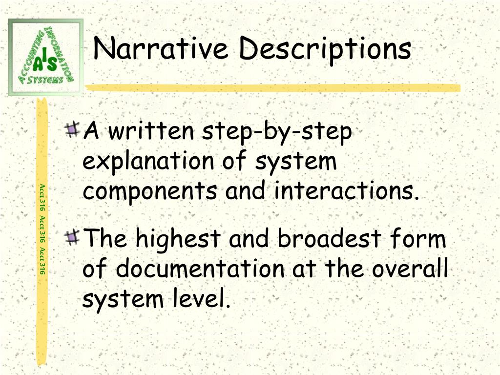 Narrative Descriptions