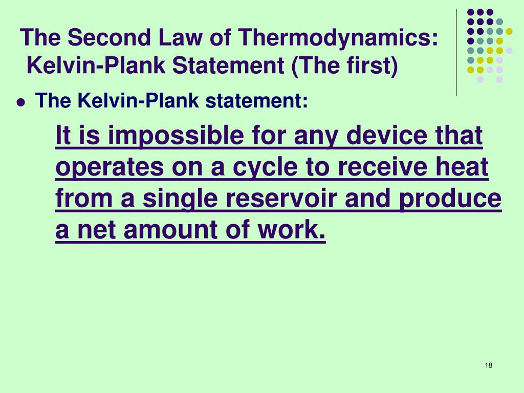 The Second Law of Thermodynamics: