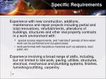 specific requirements7