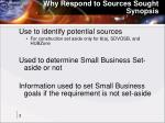 why respond to sources sought synopsis