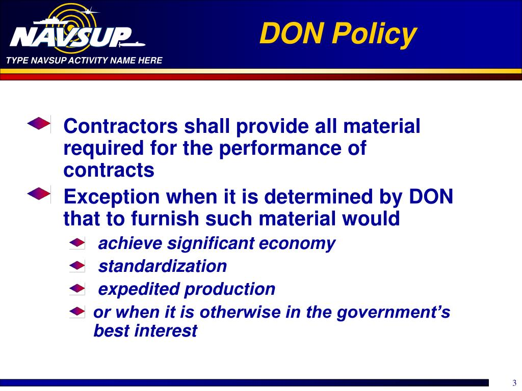 DON Policy