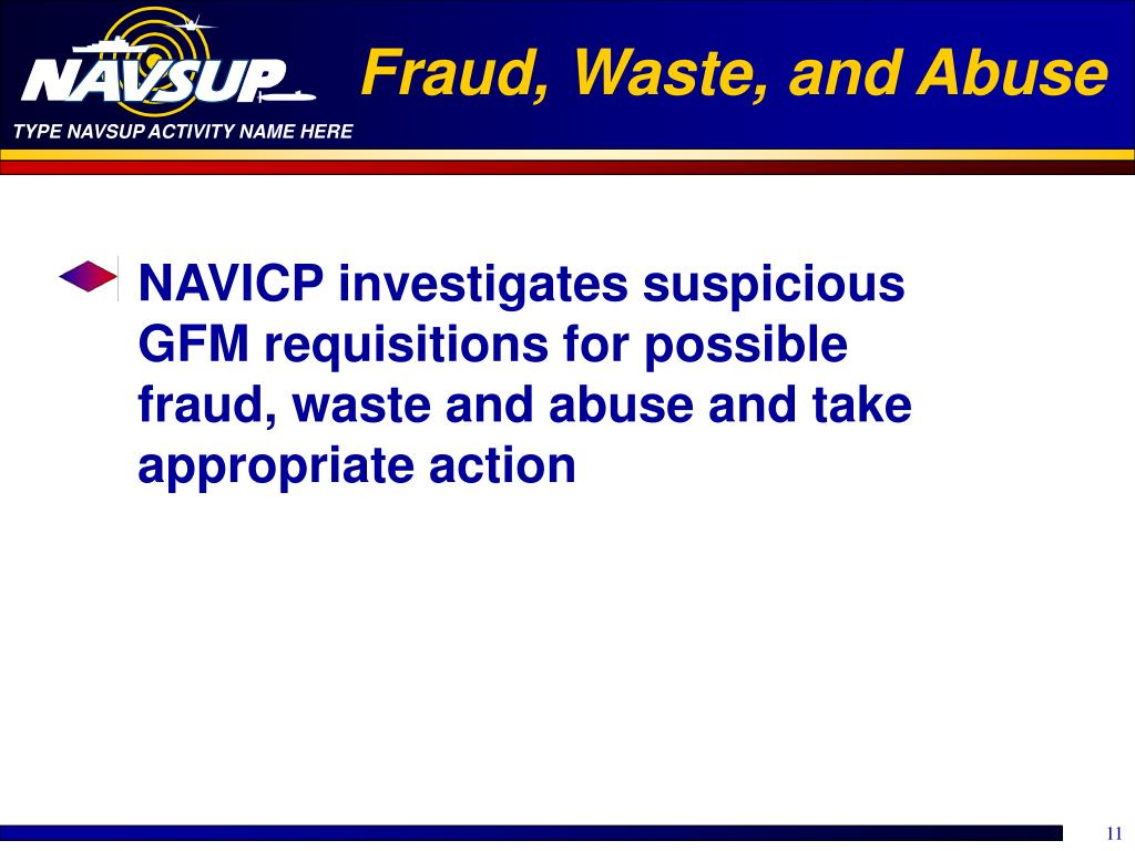 Fraud, Waste, and Abuse