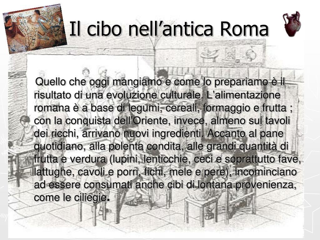 Il cibo nell'antica Roma