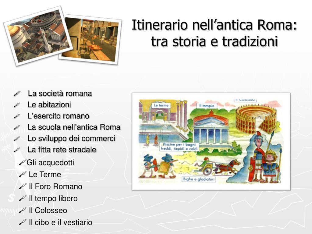 Itinerario nell'antica Roma:
