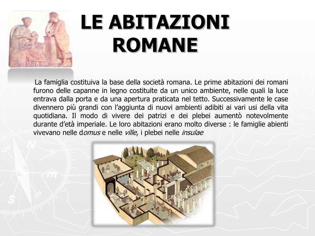 LE ABITAZIONI ROMANE