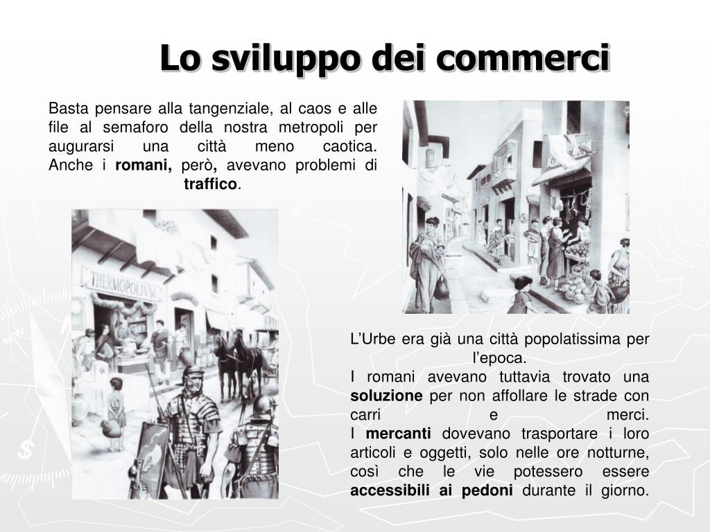 Lo sviluppo dei commerci